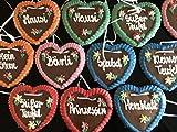 10 Stück Lebkuchen Herz weich und saftig! Gemischte Farben und Sprüche Kindergeburtstag Wurfmaterial Lebkuchenherzen