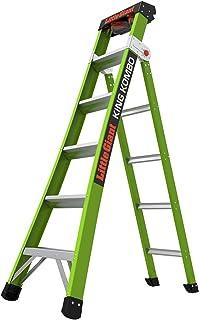 Little Giant Ladder Systems 13610-001 Green King Kombo Pro 6` A frame 10' Extension-Hi-Viz Type 1AA, 6 Ft