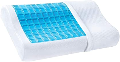 Bloodyrippa Contour Gel Memory Foam Pillow with Removable Pillow Case, Orthopedic Pillows Help Relieve Back, Neck and Shoulder Pain, Anti-snoring, Ideal for Back, Stomach and Side Sleepers,1-Pack
