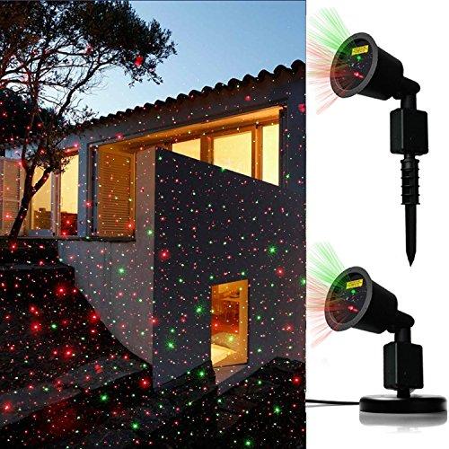 JD Laser Lights Landscape Projector Laser Beams Christmas Holiday Lights Shower