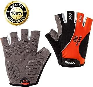 VEBE Bicycle Gloves Half Finger Short Mountain Exercise Bike Gloves Anti-Slip MTB Cycling Gloves for Men