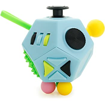 ADD Adultes Enfants Noir JIMS STORE Stress Relief Toys 12 C/ôt/és Fidget Anxi/ét/é Stress Reliever Cube D/écompression Jouet Attention Dinqui/étude Jouet /à Doigt Sensoriel pour ADHD