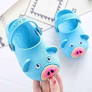 Hopscotch Baby Boys and Baby Girls PVC Piggy Clogs in Blue Color