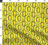 Kiwi, Obst, Tropisch, Grün, Gelb Stoffe - Individuell
