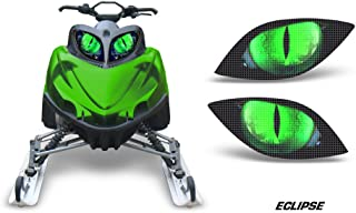 AMR Racing Sled Headlight Eye Graphic Decal Cover for Arctic Cat M Series Crossfire - Eclipse Green