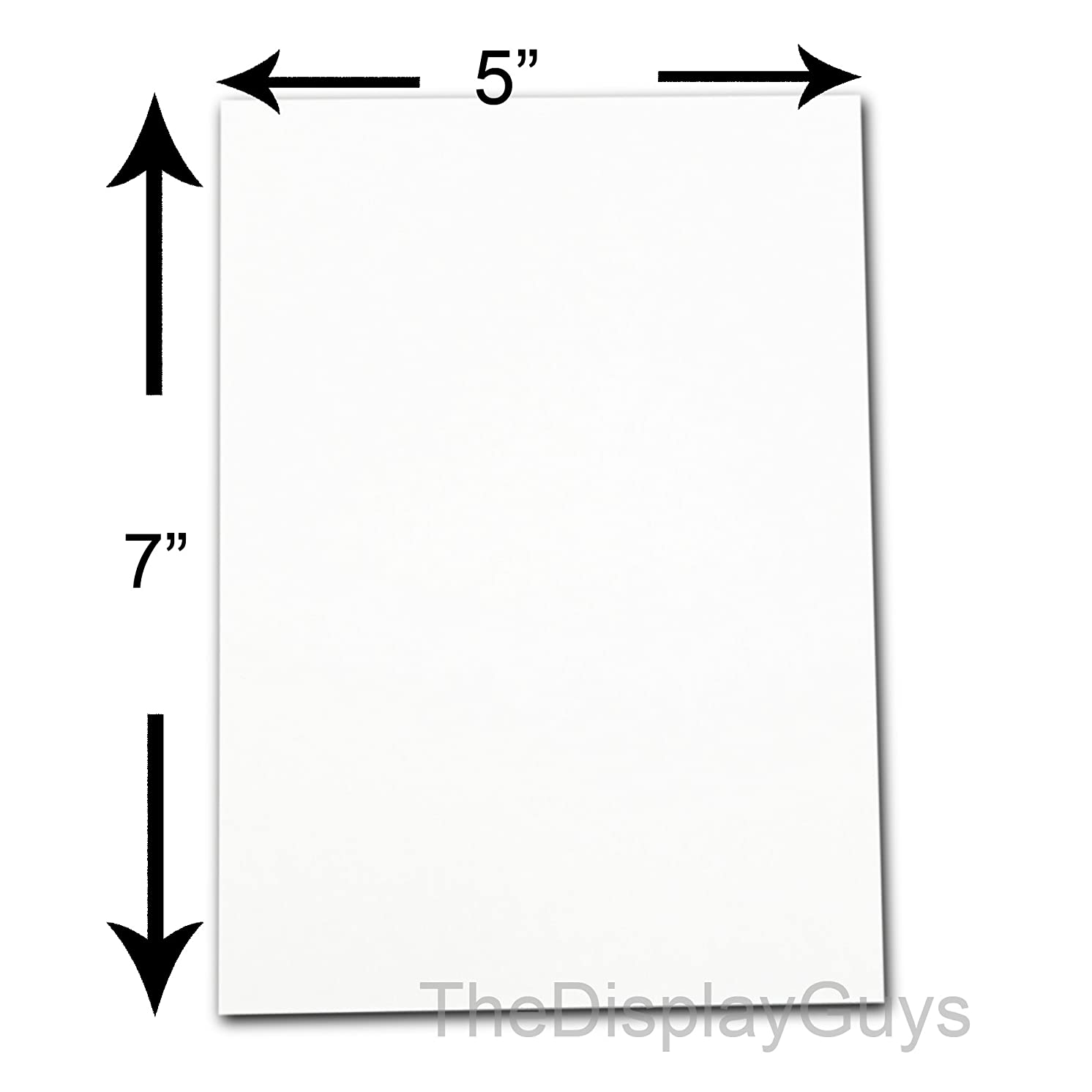 """The Display Guys ~ Pack of 50, 5""""x7"""" Picture Backing Boards (50pcs White Backing Board Only)"""