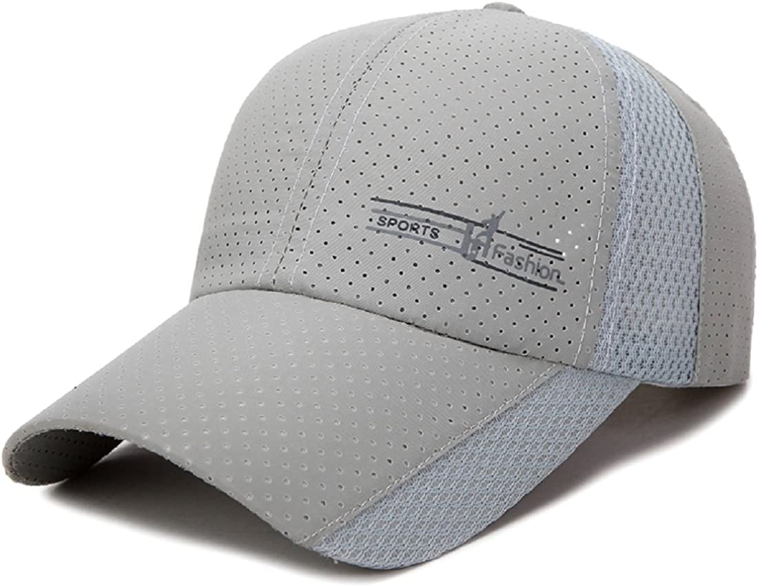 LLmoway Mens Baseball Cap Breathable Sports Hats Quick Dry Running Hat Adjustable