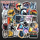 50 PCS/Set The Wolf StickersToys para niños Animal Sticker To DIY Laptop Skateboard Equipaje Motocicleta Bicicleta Coche Calcomanías