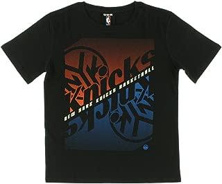 Boys New York Knicks NBA Crossfade T Shirt Black