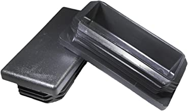 Prescott Plastics 4 Pack: 1 1/2 x 3 Inch Rectangle Black Plastic Plug End Cap