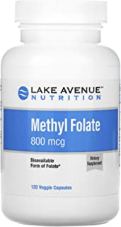 Lake Avenue Nutrition Methyl Folate, 800 mcg, 120 Veggie Capsules