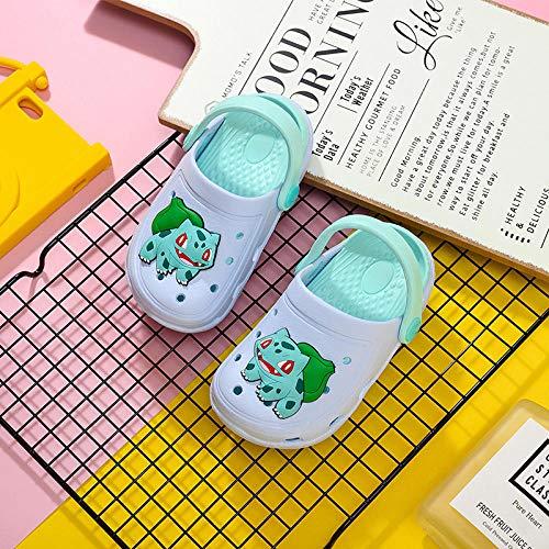 Zapatillas de casa para Mujer Verano Abiertas,Zapatillas Infantiles Pikachu, Zapatos para niños y niñas para niños y niñas-13 cm (13 Yardas) Durante 12 a 15 Meses_1955 Semillas de Rana de bebé