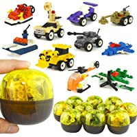 MCpinky 10 Piece Easter Eggs with Army Equipment Building Blocks Set
