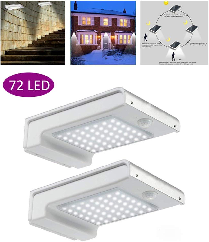 LIJUEZL Led solarlampe mit bewegungsmelder72 LED Solarleuchten Outdoor-Bewegungssensor, 2Pack wasserdichte Wandleuchten Garden Security Lights