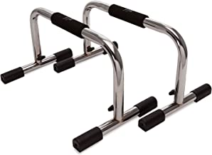 JFIT j/fit Pro Push Up Bar Stand | Durable Metal Fitness Equipment and Padded Handles for Secure Grip Non Skid Feet Elevat...
