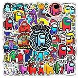 YLGG 50 Piezas de Pegatinas de Graffiti Impermeables Among Us para portátiles, patinetas, Maletas, Cascos, teléfonos móviles, Motos,etc.