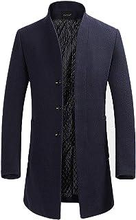 YOUTHUP Cappotto Uomo Eleganti Trincea Cappotti di Lana Invernale Giacche Lunghe Casual Slim Fit