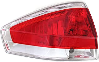 Tail Light Compatible with FORD FOCUS 2009-2011 LH Assembly with Chrome Insert Sedan - CAPA