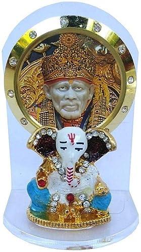 Sai Amrut Acrylic Sai Baba Idol for Car Dashboard (2.5-Inches) (White)