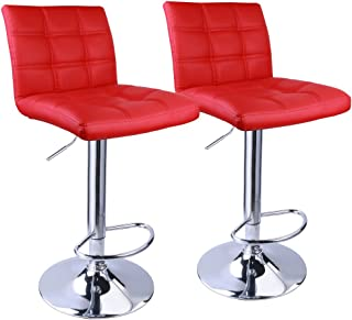 Awe Inspiring Amazon Com Red Leather Barstools Home Bar Furniture Gmtry Best Dining Table And Chair Ideas Images Gmtryco