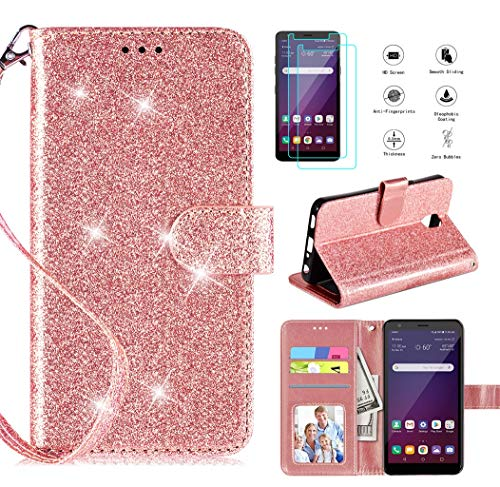 LG Journey LTE Glitter Wallet Case by Casekey