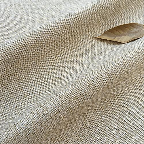 MAGFYLY Paño De Lino De Color Sólido Extra Grande De 70 Pulgadas, Remiendo De Arpillera Vieja, Usado para Ropa De Cama, Cojines, Equipaje(Color:beige2)