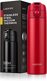 Stainless Steel Coffee Travel Mug Vacuum Insulated Thermos Cup Water Bottle With Leakproof Locking Lid 17ounce Red