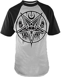 Darkside Clothing Pentagram Baphomet - Mens - Baseball Style T-Shirt