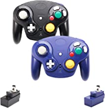 $40 » VTone Upgraded Classic 2.4G Wireless Gamecube Controller with Receiver Adapter for Wii U Gamecube NGC GC (Black and Dark B...