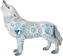 Pacific Giftware The Wolf Spirit Collection Indian Turquoise Sky Stone Wolf Spirit Collectible Figurine