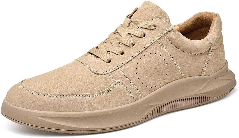 EGS-schuhe Sportschuhe für Mnner Sportschuhe Lace Up Schweinsleder Atmungsaktivitt Auensohle Schuhe,Grille Schuhe (Farbe   Sand Colour, Gre   42 EU)