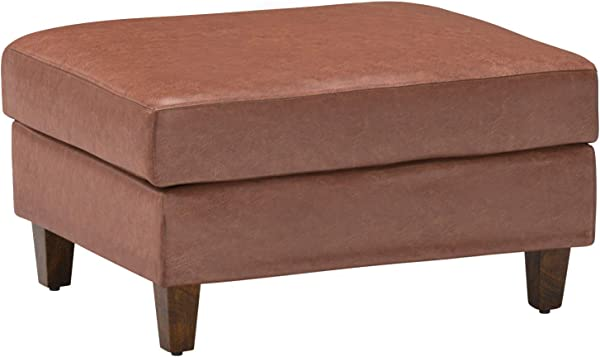 Stone Beam Andover Ottoman 32 W Saddle Colored Leather