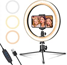 "LED Ring Light 10"" with Tripod Stand & Phone Holder for Live Streaming &.."