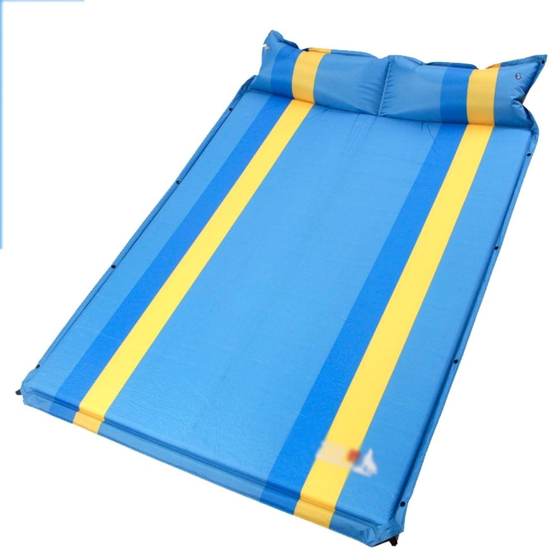 Unbekannt Unbekannt Unbekannt Sheng Doppelte aufblasbare Kissen im Freienzelt Schlafmatten Feuchtigkeitsauflage, die Dickes doppeltes Kissen erweitert (Farbe   Blau) B0769YXP81  Exportieren e48ecc