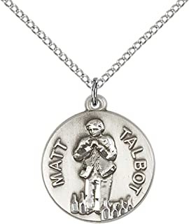 PicturesOnGold.com Venerable Matt Talbot 3//4 Inch Size of a Nickel in Sterling Silver with Engraving