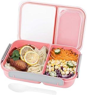 OldPAPA Recipiente hermeticos de Comida, Fiambrera, 2 Compartimentos a Prueba de Fugas - Libre de BPA, Lunchbox