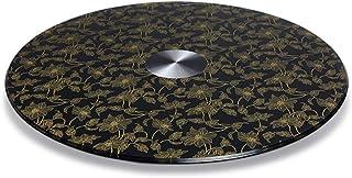 DIOE Platine tournante en verre trempé rond Lazy Susan, plateau rotatif pour table de salle à manger, lisse, silencieux, i...