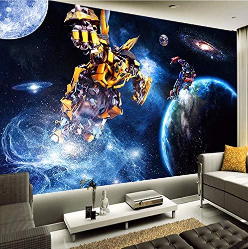 Lwfxc Custom Boy 'Room Transformers 3 D Fototapeten Wohnzimmer Raum 3DWallpaper 3D Wandtapeten 250X175Cm