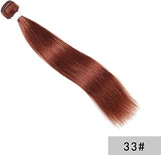 Brown Human Hair Bundles Brazilian Straight Hair Weave Bundles Non Remy Hair Extensions Hair Weave KEMY HAIR,10inches,#33,3Pcs/Lot