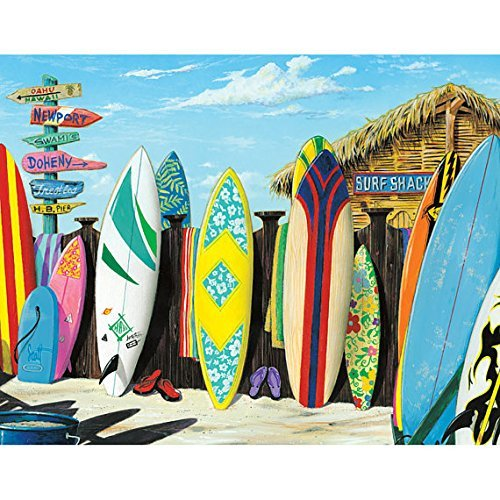 Norma Lily Vintage Surf Shack Surfbrett Retro Blechschild 18x 12