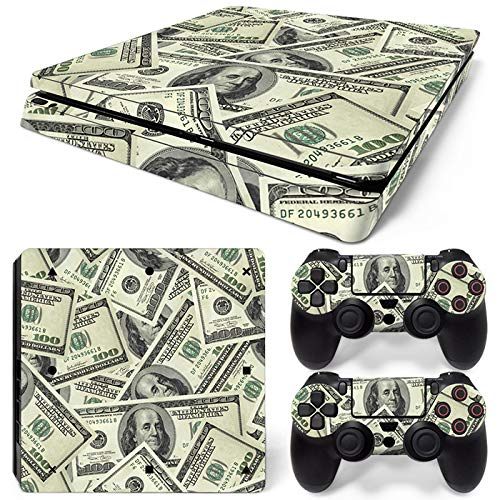 Mcbazel Pattern Series Vinyl Skin Sticker For PS4 Slim Controller & Console Protect Cover Decal Skin (Note)