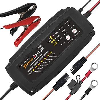 Chargeur de batterie 12V 248A Chargeur Multi Amp Maintainer Portable Float Cycle à flotteur profond Chargement automatique en 7 étapes
