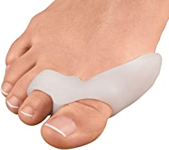 Gel Bunion Corrector Protector - 1-Pair Big Toe Straightener Separator Spreader for Treating Hammer Toe, Overlapping Toe and Crooked Toe, Day/Night use
