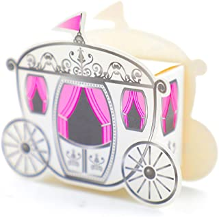 DiER 50 Mini Carriage Treat Boxes Candy Box Cinderella Fairytale Princess Carriage Wedding Favour Party Gift
