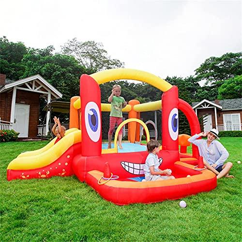 YQGOO Casa Hinchable Inflable - Castillo de Rebote para niños Casa de tobogán de Salto con Pozo de Bolas y Saco de Boxeo (Tema de Cangrejo),