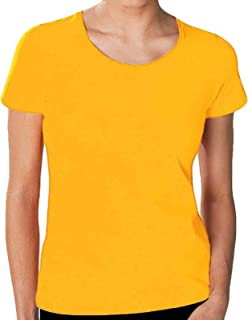 Hanes Tasty Womens Crew Neck Top - Yellow - 2XL