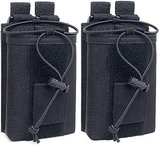 abcGoodefg 1000D Adjustable Molle Tactical Pouch Radio Holster Case Walkie Talkie Holder Duty Belt, 5.3