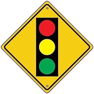 Traffic Light Ahead with Symbol Crossing Metal Aluminum Road Sign 12x12