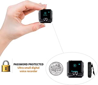 Mini Voice Activated Recorder – Listening Device for Spying Up to 1536 Kbps Voice Recording - 572 Hours Recordings Capacity - More Than 38 Hours Battery Life - Password Protection
