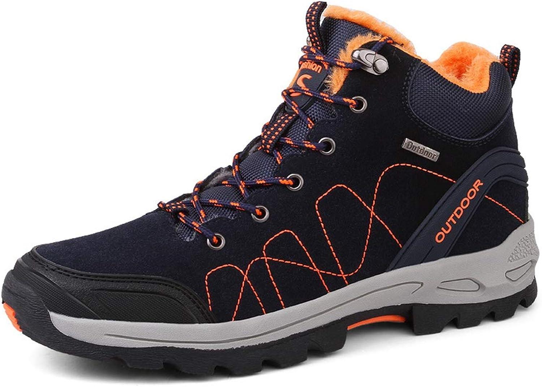 York Zhu Women's Boots,Lace Up Winter Warm Riding Plus Hiking Boot